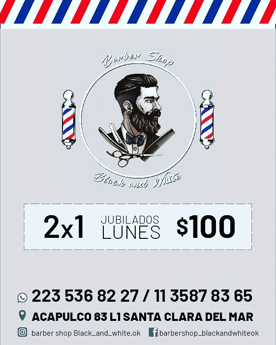 Black and white Barbería