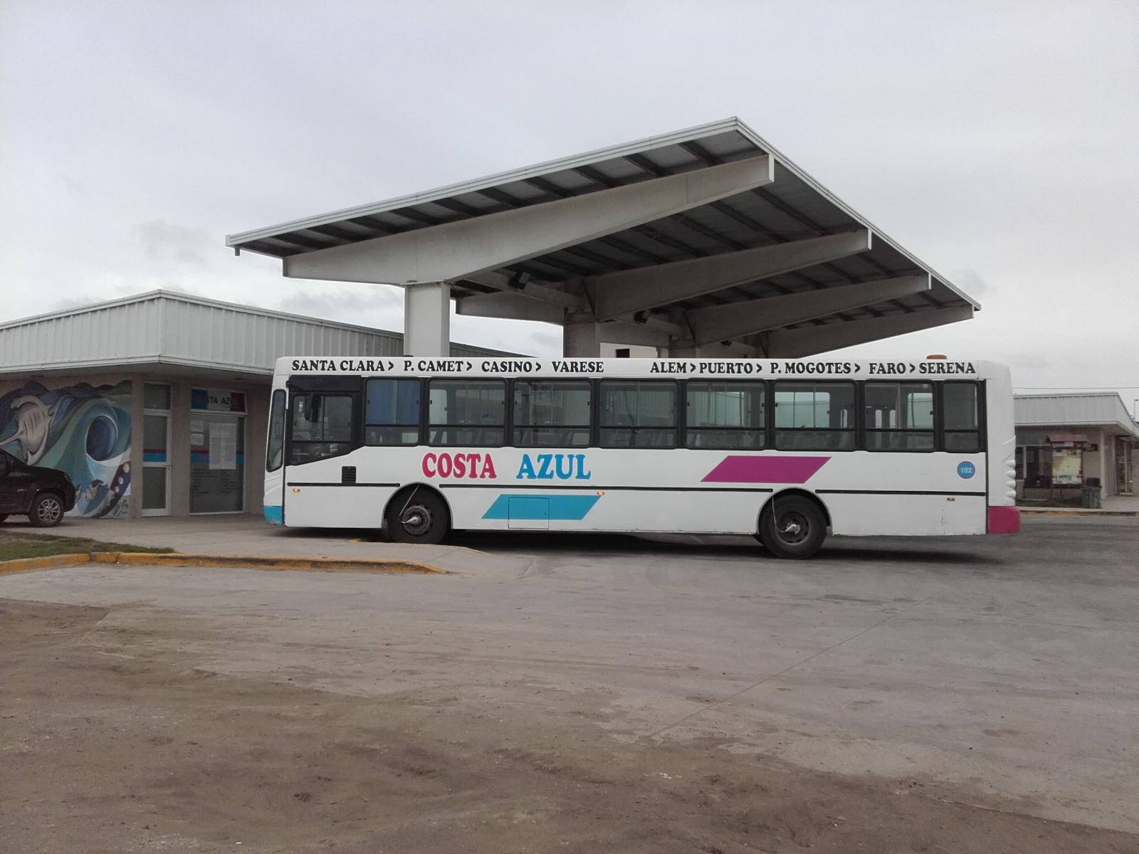 Horario Costa Azul -Ómnibus pasajeros-