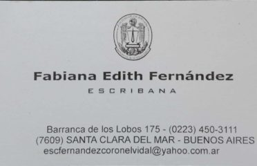 Fabiana E. Fernández Escribana