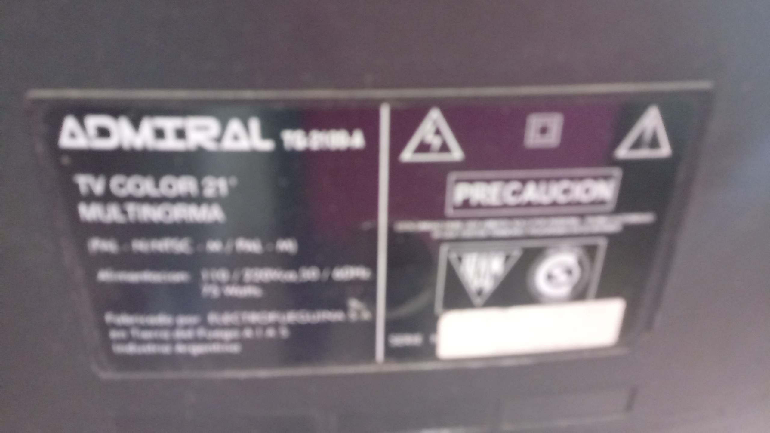 Televisor Admiral 21″